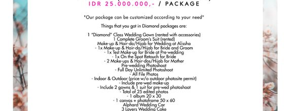 "Paket Bridal Wedding ""Diamond"" (Full Bridal Package)"