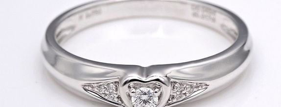 TIARIA Diamond Cupid's Heart Engagement Ring CIncin Tunangan Berlian