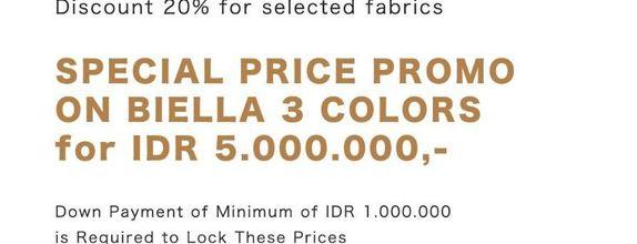 Special Price Promo on Biella 3 Colors