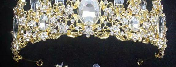 mahkota aksesoris pengantin Luxury Queen prom wedding bridal MMLQQ