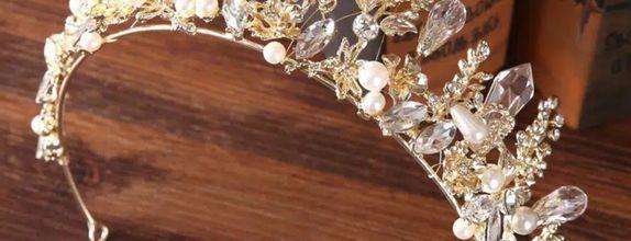 Bridal Pengantin mutiara Pesta Mahkota Headband Aksesoris Rambut MMPPM