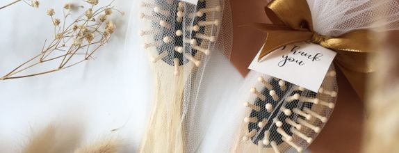 Wooden Comb with Tulle