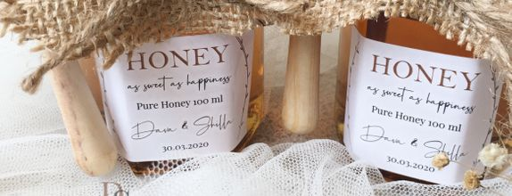 Honey in Jar 100 ml with Honey Dipper