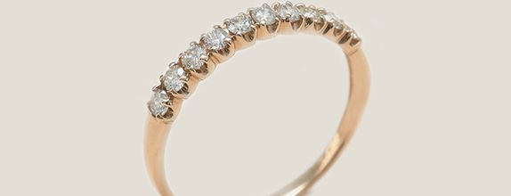 Row Ring - Rose Gold