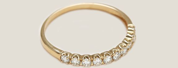 Row Ring - Yellow Gold