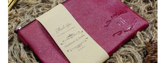 Souvenir Pernikahan Dompet Zipper Custome