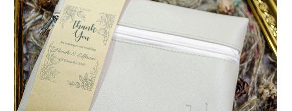Souvenir Pernikahan Pouch Zipper Depan