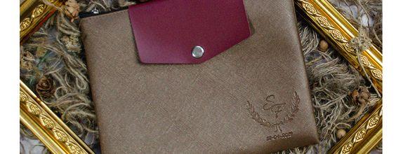 Souvenir Pernikahan Pouch Zipper Double Layer