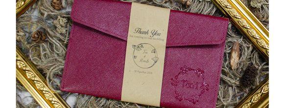 Souvenir Pernikahan Pouch Vintage