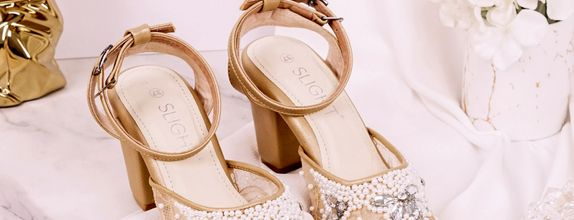 Wedding Shoes Ankle Straps Madeline Gold