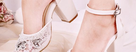 Wedding Shoes Ankle Straps Madeline White