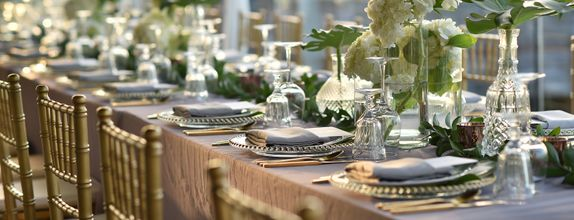 The Wedding Mood (full ceremony and dinner package for 50 guests)