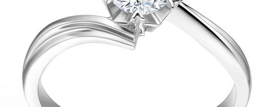 TIARIA Topaz Snowflake Engagement Ring Perhiasan Cincin Tunangan Topaz