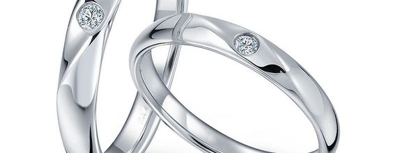 TIARIA Sparkling Star Diamond Wedding Ring Perhiasan Emas Cincin Nikah