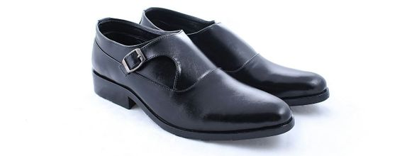 Salvare Shoes - Sepatu Wedding Pria - Single Mongkstrap - Tanpa Tali