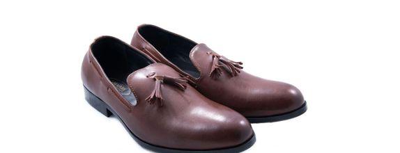 Salvare Shoes - Sepatu Pengantin - Sepatu Loafers Pria Warna Brown