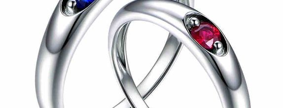 TIARIA Star and Sky Diamond Sapphire Ruby Wedding Ring Cincin Nikah