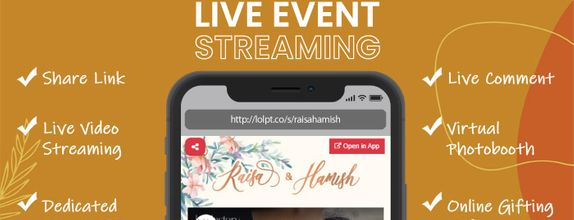 Live Virtual Wedding & Event Streaming with Virtual Booth (Diamond)