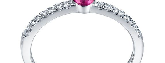 TIARIA Radiant Ruby Engagement Ring Perhiasan CIncin Tunangan Ruby