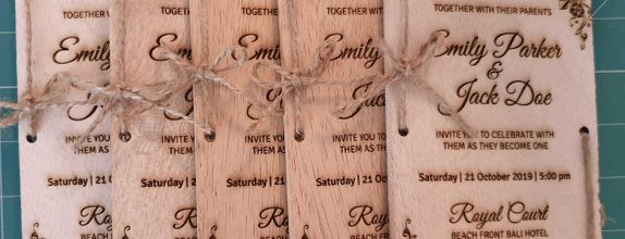 Wood Invitation Card