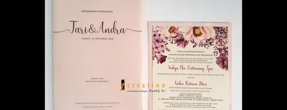 Paket 50pcs Wedding Invitation Floral 17