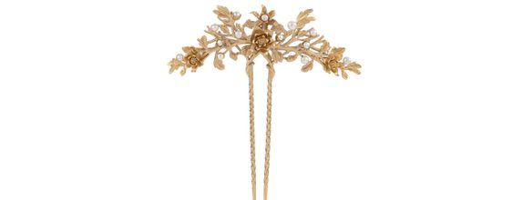 Melati Flower Long Sirkam Gold Dip
