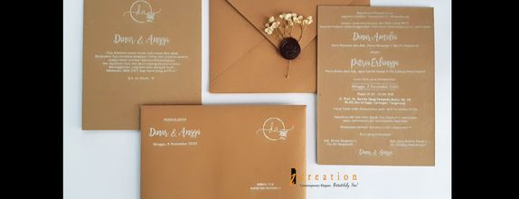 Paket 50pcs Simple Wedding Invitation 1