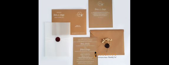 Paket 50pcs Rustic Simple Wedding Invitation 1