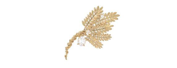 Bulir Padi Brooch Gold Dip