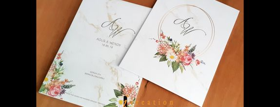 Paket 50pcs Wedding Invitation Floral 3
