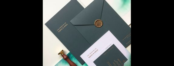 Hardcover Invitation Free Wax seals