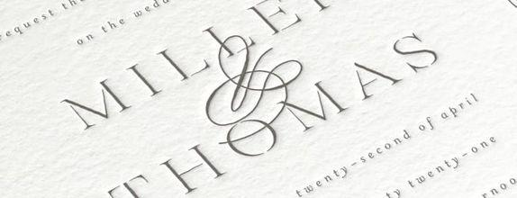 Letterpress Fine Invitation