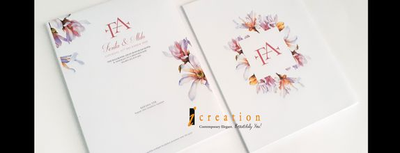 Paket 50pcs Wedding Invitation Floral 2