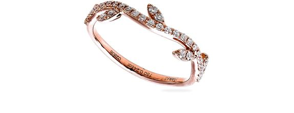 SIORAI Feuille Ring 10192422 Cincin Berlian Size 4-15 (Pre-Order)