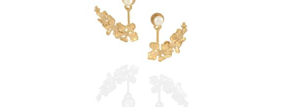 Flora Nirwana Earjacket Gold Dip
