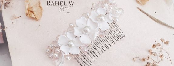 Penta Alba Crystal Hairpiece