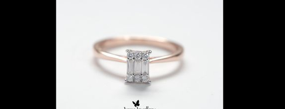 Diamond Ring Baguette Rosegold