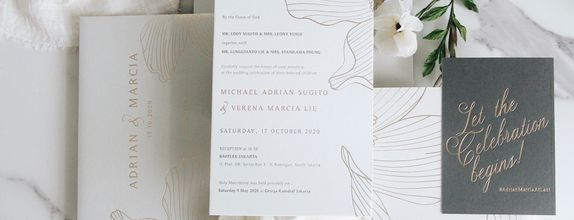 INTIMATE WEDDING- 50 PCS LETTER PRESS INVITATION
