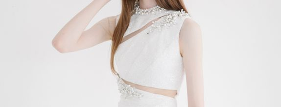(DEC CLEAR SALE!) Full Glitz White Mermaid Dress