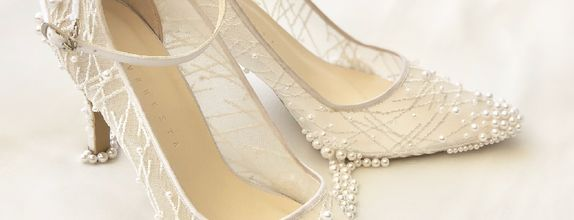 VINETTE - WHITE PEARLS- 9cm -Wedding Shoes - Bride Shoes - Party Shoes