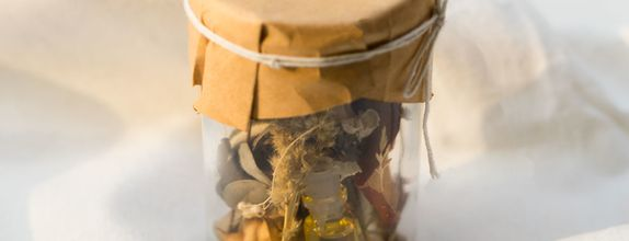 Rustic Jar Potpourri with Fragrance Vial