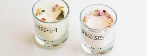 Glass Votive Candle with Natural Style Design