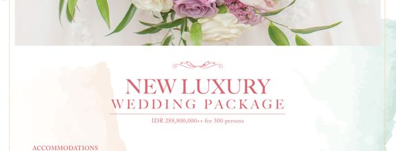 New Luxury Wedding Package 300 persons
