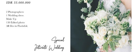 Special Intimate Wedding by Fenty