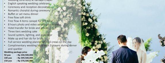 Wedding Package at Kamaya Bali for 50 pax