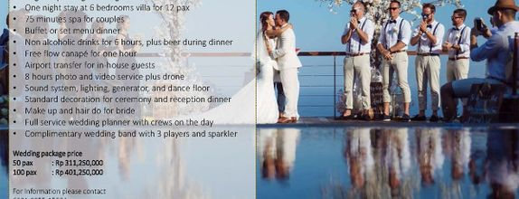 Wedding Package at The Edge Bali for 100 pax