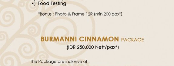 Wedding Package Cinnamon Hotel Boutique
