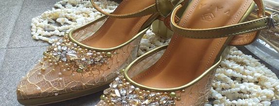 Wedding Shoes Noura Champagne Gold - Luxury