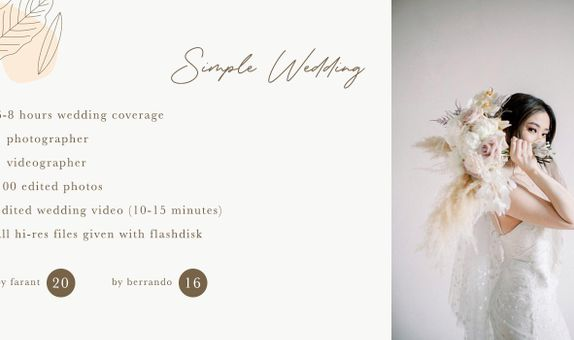 Simple Wedding Package By Farant Marshall