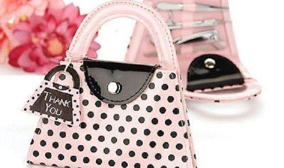 Pink Polka Manicure Set